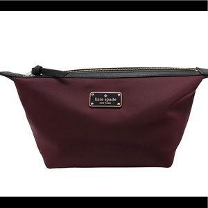 NWT Kate Spade NY Jodi Cosmetics Plum Clutch Bag